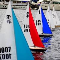 rc model sailing yacht radio control sailboat kit wooden hull