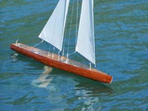 rc sailboat wood radio controlled pond yacht kit