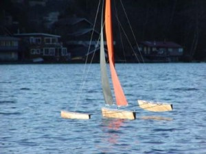 radio controlled pond sailing model boats
