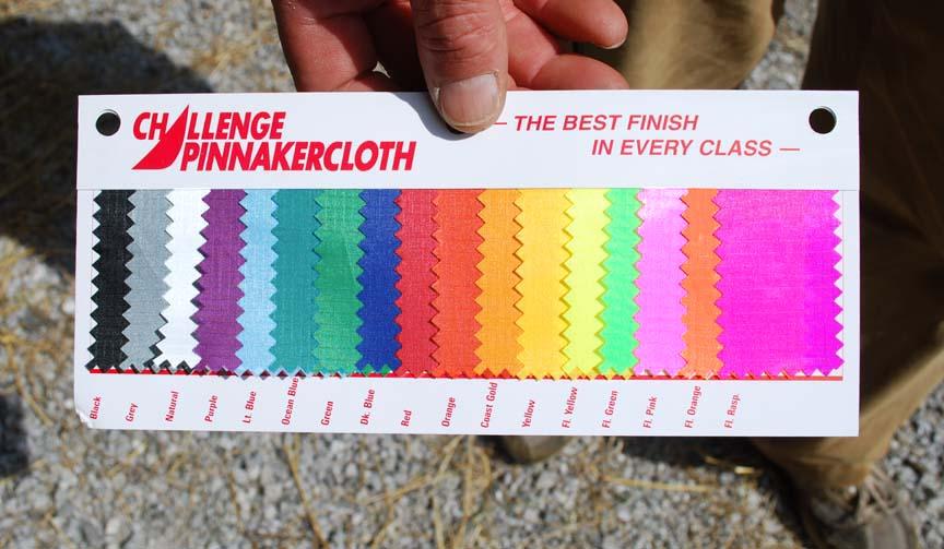 SeaWind sail corners color swatch